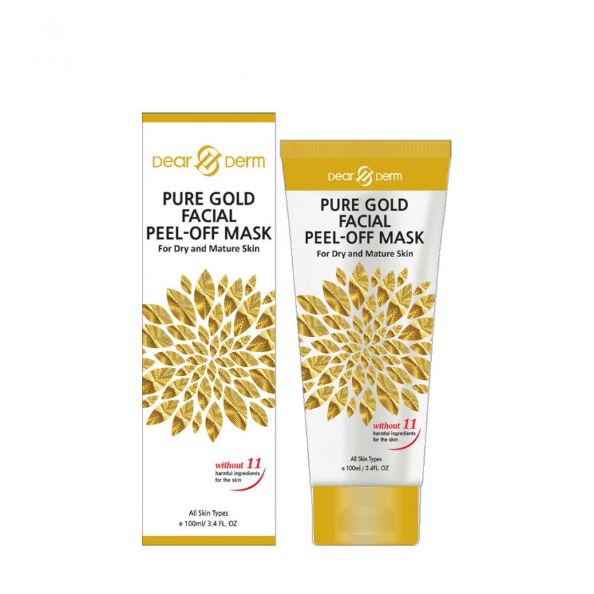 Dearderm Pure Gold facial peel-off mask For Dry and Mature Skin 100ml/ 3.4 fl.oz.