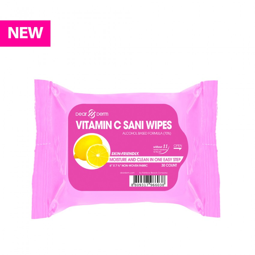 Dearderm Vitamin C Sani Wipes-30 Wipes -Vitamin C X 24 Pieces